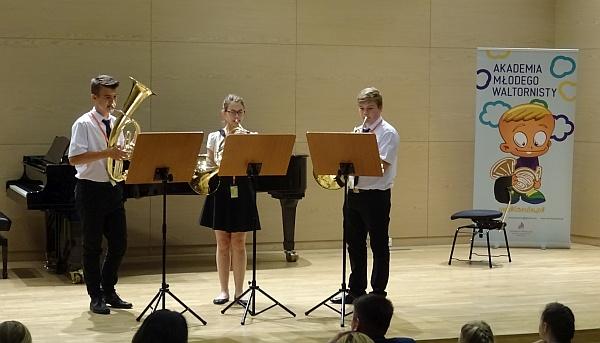 Koncert tria zPSM Strzelce Opolskie - dwie waltornie ieufonium